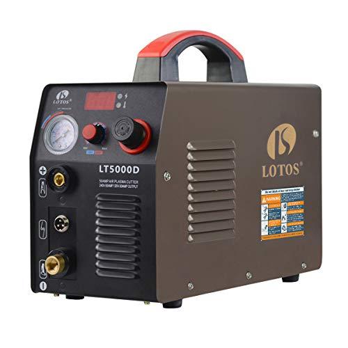 LOTOS LT5000D 50A Air Inverter Plasma Cutter Dual Voltage 110/220VAC 1/2' Clean Cut
