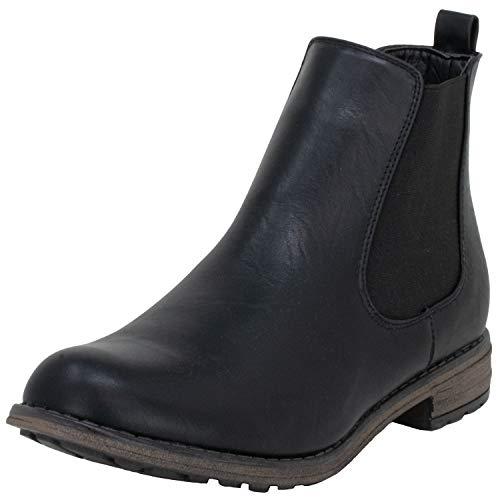 Fitters Footwear That Fits Damen Stiefelette Katty PU Übergröße (44 EU, schwarz)