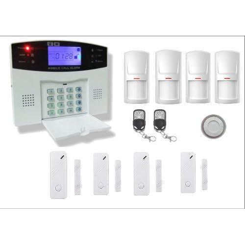 Bullnet Systems - Kit Alarme de Maison Téléphonique sans fil RTC - Evolutive 99 zones 4 zones