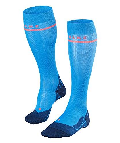 Falke Damen Laufsocken Energizing Cool, Kompressionsstrümpfe, Funktionsfaser, 1er Pack, Blau (Blue Note 6545), 39-42 W2