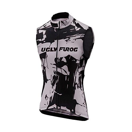 Uglyfrog Clásico Ciclo Maillots Primaveral Bike La Ropa De Los Hombres Sin Mangas Ciclismo Chaleco Cremallera Completa Transpirable MJX03F