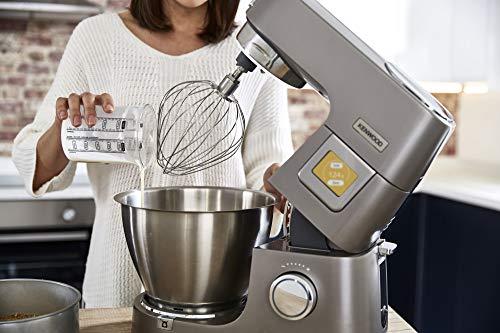 Kenwood Titanium Chef Patissier XL KWL90.034SI – Küchenmaschine mit integrierter Waage & 7 L Rührschüssel mit Wärmefunktion, 1400 Watt, inkl. 4-teiligem Patisserie-Set, silber - 8