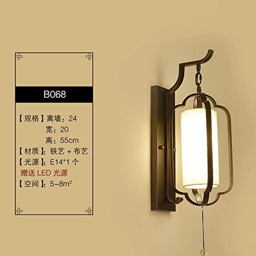 CHOUCHOU Apliques Pared Lámpara de Pared Lámpara de cabecera Lámpara de Pared Dormitorio del Fondo del Pasillo del Hotel de la lámpara de la Sala de la lámpara de Pared, B6003