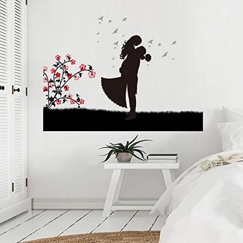 DSSJ Parejas Figura Pasta de Pared Sala de Estar Dormitorio Sala de Bodas Decorada Decoración del hogar Pasta de Pared Murales
