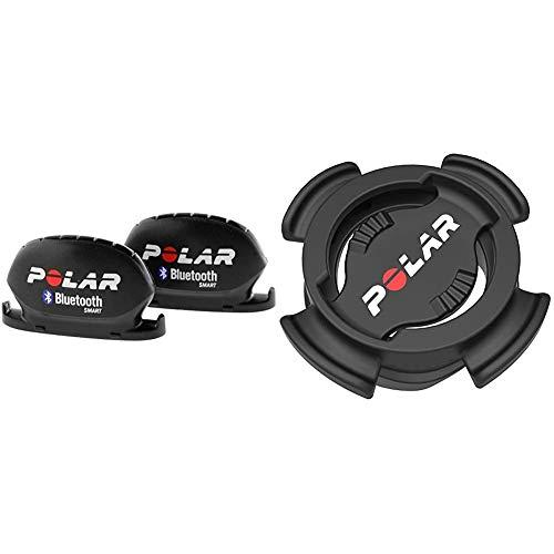 Polar Kit Capteur de Vitesse et Capteur de Cadence Bluetooth Smart & V650 Support vélo