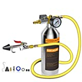 FOUR UNCLES IRONCUBE AC Flush Kit,A/C Air Conditioner System Flush Canister Kit Clean Tool Set R134a R12 R22 R410a R404a for Auto Car with 3.5 ft Hose American Interface
