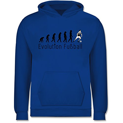 Shirtracer Evolution Kind - Fußball Evolution - 116 (5/6 Jahre) - Royalblau - Hoodie Evolution Kinder fußball - JH001K - Kinder Hoodie