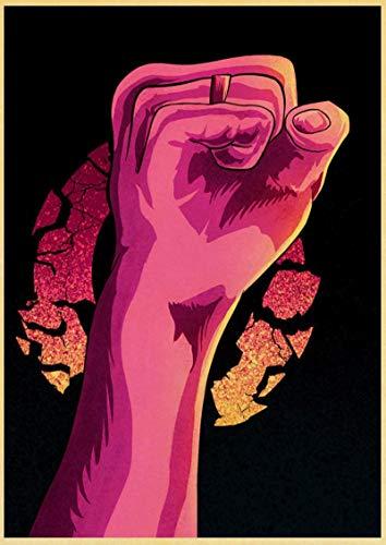 xiangpiaopiao Bohemian Rhapsody Queen Freddie Mercury Musical Vintage Poster Lienzo Pintura Película Moderna Decoración De La Pared De La Habitación del Hogar Bar 50X70Cm 7G-1028