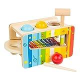 WOOMAX Juego martillo y xilófono de madera (Colorbaby 46205)