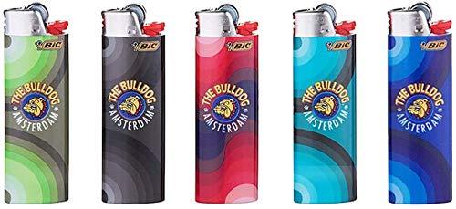 Amsterdam Bulldog 5 x BIC Maxi Feuerzeug J26 Limited Special Edition