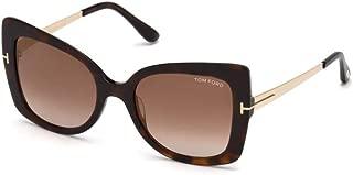Sunglasses Tom Ford FT 0609 Gianna- 02 52G dark havana/brown mirror