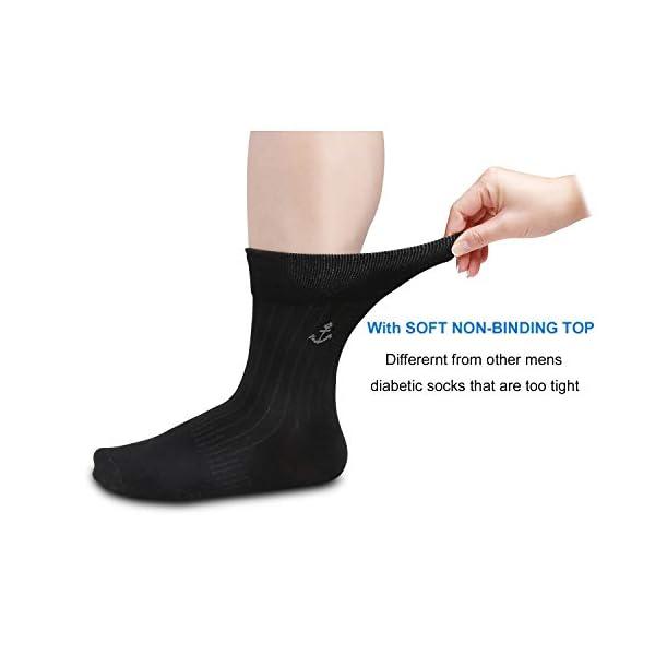 buy  Diabetic Socks for Men 6 Pairs Extra Wide ... Diabetes Care
