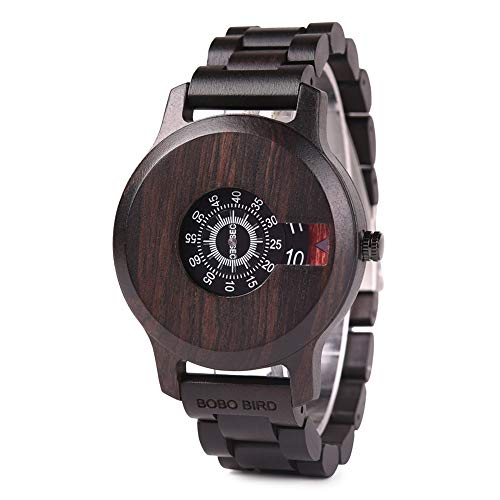 BOBO BIRD Mens Unique Fashion Classic Casual Retro Wooden Wood Watches Luxury Brand Quartz Wristwatches Great Men's Gift