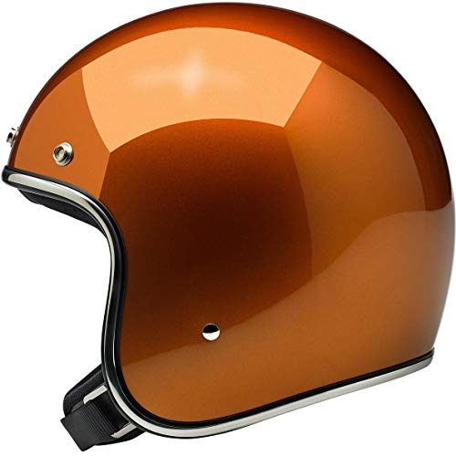 Biltwell Bonanza Solid Men's Open-Face Street Motorcycle Helmet - Gloss Copper/Medium