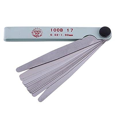 Jili Online Metric Feeler Gauge Ruler 17 Blade Spark Plug Valves Measure Gap Tool from Jili Online