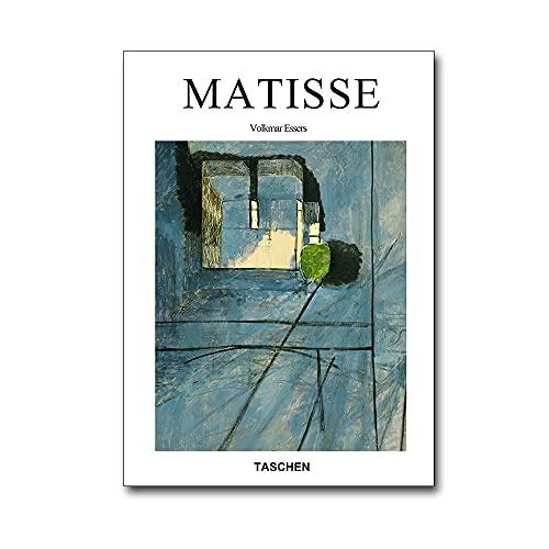 Carteles e impresiones retro de chica francesa Henri Matisse murales abstractos pinturas de lienzo decorativas sin marco de la familia A16 60x80cm