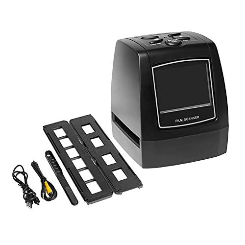 TISHITA Le-in-One - Escáner de película de alta resolución de 10 MP, convierte 35 mm/135 mm, deslizamiento, negativos en fotos digitales, pantalla LCD de 2,4 pulgadas