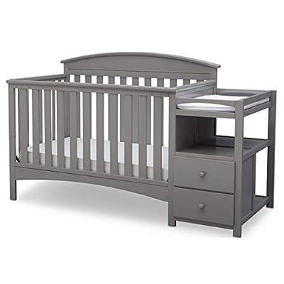 Delta Children Abby Convertible Crib and Changer, Grey from Delta Children