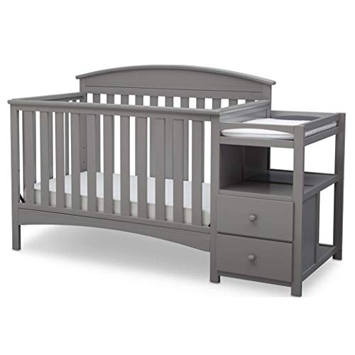 Delta Children Abby Convertible Crib and Changer, Grey