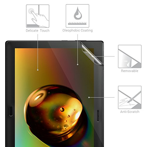 kwmobile 2X Folie kompatibel mit Lenovo Tab 4 10 Plus - Full Screen Tablet Schutzfolie entspiegelt