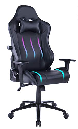 Blue Whale Gaming Chair Adjustable Lumbar Cushion High-Performance Metal Base Adjustable Armrest and...
