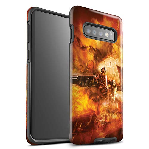Stuff4® glanzende harde schokbestendige hoes/case voor Samsung Galaxy S10 / Super Hornet sproeiers patroon/Star Vest Video Games Art Collectie