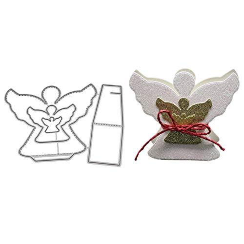 Fogun 3D-Stanzschablonen, Engel, Metall, zum Basteln, Scrapbooking, Cutting Dies DIY, Geschenkkarte für Weihnachten
