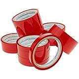 PrimeMatik - Cinta Adhesiva roja para precintadora Cierra Bolsas de plástico 24-Pack