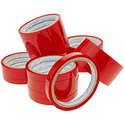 PrimeMatik - Rot Klebeband für Edelstahl Beutelverschliesser Beutelverschlussgerät Klebebandspender 24-Pack