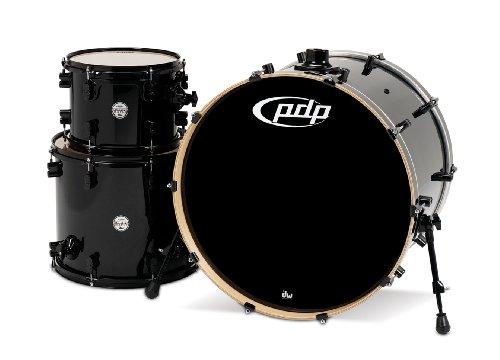 Pacific Drums PDCM2413PB Concept Series Schlagzeug-Set, 3-teilig, Perlglanz-Schwarz