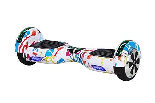 Robway W1 Hoverboard - Das Original - Samsung Marken Akku - Self Balance - 22 Farben - Bluetooth - 2 x 350 Watt Motoren - App - Led (Bunt Weiß)