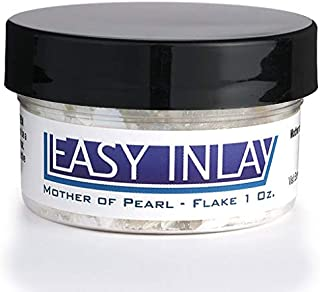 Crushed Mother-of-Pearl Inlay Supplies for Woodworkers, Turners, Casters, Luthiers, Professionals and Hobbyists - Flake, 1 oz.
