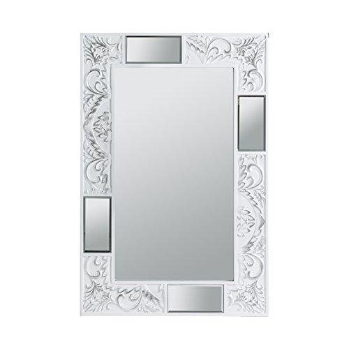 PEÑA VARGAS - DECORHOME - Espejos Modernos - Espejo Texturas Blanco (90x60)
