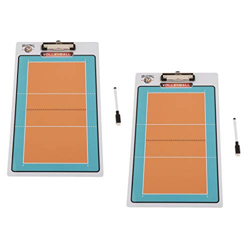 perfeclan 2 Stück Volley Coaching-Board Tactic Board