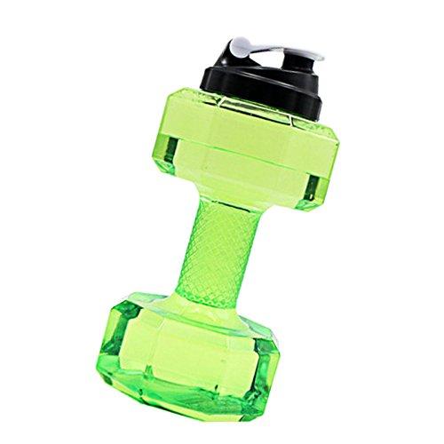 ZREAL Portable 2.2L PETG Grande bouteille d'eau Sport Haltère Shape Gym Fitness Bouilloire
