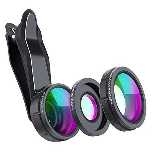 SKYVIK SIGNI 3 in 1 Mobile Camera Lens Kit, Super Wide Angle, 198 Fisheye, 20x Macro for All Smartphones