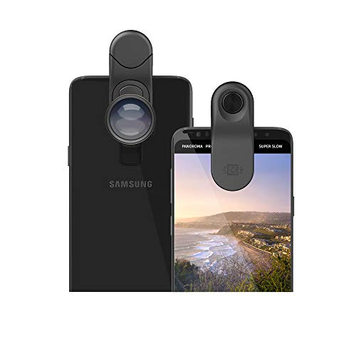 olloclip Essential Telephoto 2X, Ultra-Wide Lens Kit with Multi-Device Clip Compatible with iPhone, Pixel and Samsung…
