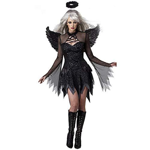 YIDADIAN - Costume da Angelo Caduto, Sexy, da Donna, per Halloween, Cosplay Bianco Bianco XXL