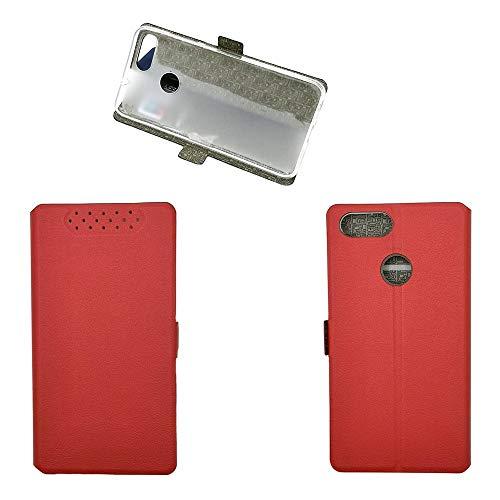 QiongniAN Coque pour ASUS ZenFone Max Plus ZB570TL / ZenFone Max Plus M1 X018D / ZenFone Pegasus 4S Coque Housse Etui Cover Red