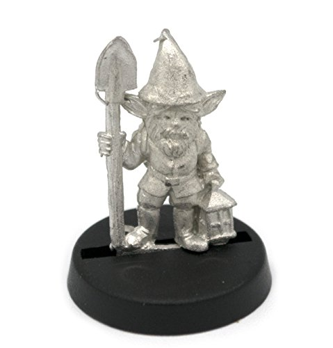 Stonehaven Gnome Gardener Miniature Figure (for 28mm Scale Table Top War Games) - Made in USA