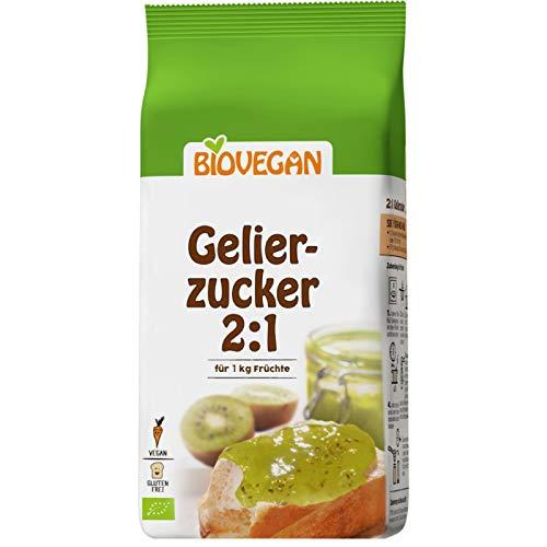 Azucar Gelificante Para Mermeladas 2:1 Orgánico Sin Gluten | Base de azúcar de caña y pectina de manzana 500g | Azúcar de gelatina orgánica para 1 Kg de fruta - Calidad superior