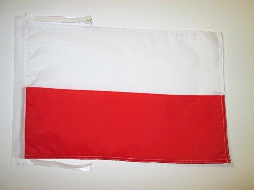 AZ FLAG Flagge Polen 45x30cm mit Kordel - POLNISCHE Fahne 30 x 45 cm - flaggen Top Qualität
