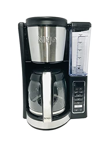 ninja single serve brewers Ninja CE201 12-Cup Programmable Coffee Maker, Medium, Black Stainless Steel (Renewed)