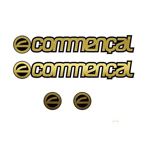Set di adesivi in vinile per telaio di bicicletta COMMENCAL 4 adesivi   adesivi per bicicletta   Sticker decorativo   Bike Sticker (oro)