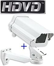 "HDVD 11 Inch Security Camera Housing Enclosure & 10"" Arm Bracket for Outdoor CCTV Brick Style Surveillance Camera …"