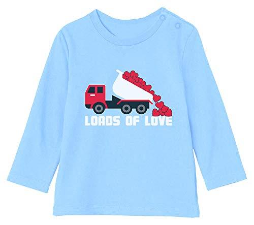Saint Valentin - Loads of Love - Naissance T-Shirt Bébé Unisex Manches Longues 6-12M 66/76cm Bleu Ciel