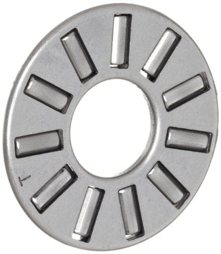 Koyo FNT-821 Thrust Needle Bearing and Roller, Open, Steel Cage, Metric, 8mm ID, 21mm OD, 2mm Width, 3.8lbf Static Load Capacity, 1.43lbf Dynamic Load Capacity