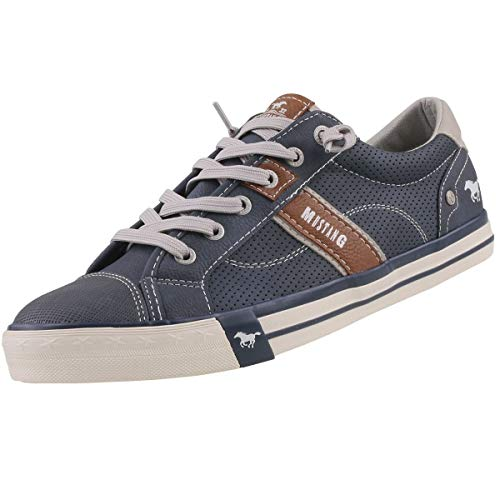MUSTANG Herren 4072-301-800 Sneakers, Blau (800 dunkelblau), 44 EU