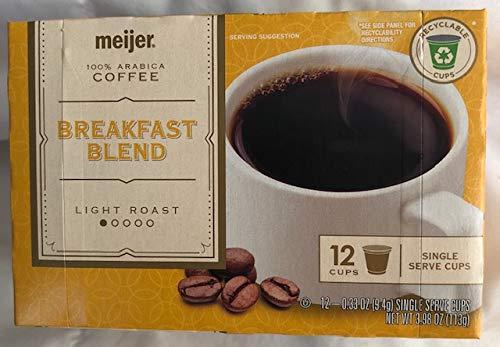 Meijer 100% Arabica Coffee Breakfast Blend Light Roast 12-Single Serve Pods