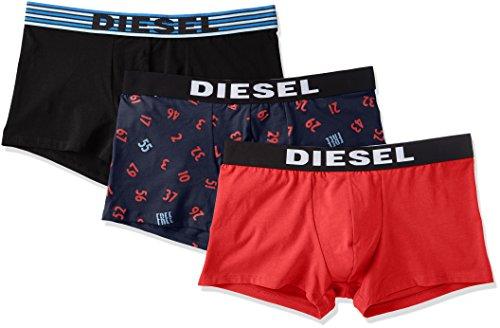 Diesel 3Pack Herren Boxershort UMBX Shawnthreepack Multi - Blau/Rot: Größe: 7 (Gr. X-Large)